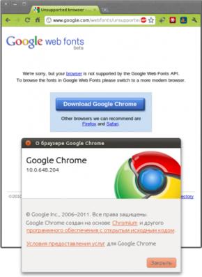 Шрифтовый сервис Google