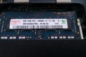 Asus EeePC 1215N — апгрейд памяти