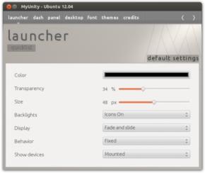 MyUnity — напильник для интерфейса Ubuntu