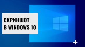 Скриншот под Windows10